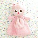 Lovespun Pink Owl Baby Cozy Toy Plush Pink Owl Lovey