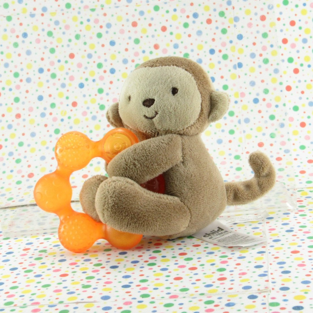 Carter's Child of Mine Monkey Teether Toy Plush Brown Monkey Lovey