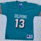 Vintage Dan Marino Miami Dolphins Champion Football Jersey Toddler 4T Retro NFL