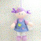 Max Baby Doll Soft Doll Purple Hair Corduroy Dress