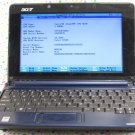 Acer AspireOne ZG5 Netbook Blue *AS IS * FOR PARTS