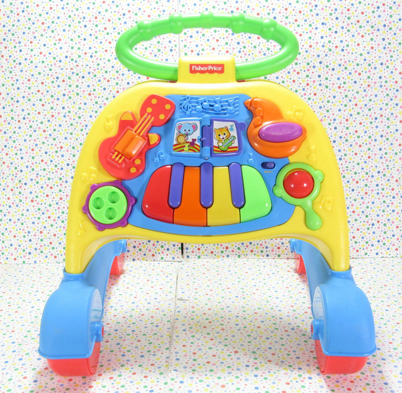 Fisher Price Brilliant Basics 2 in 1 Musical Activity Piano Walker