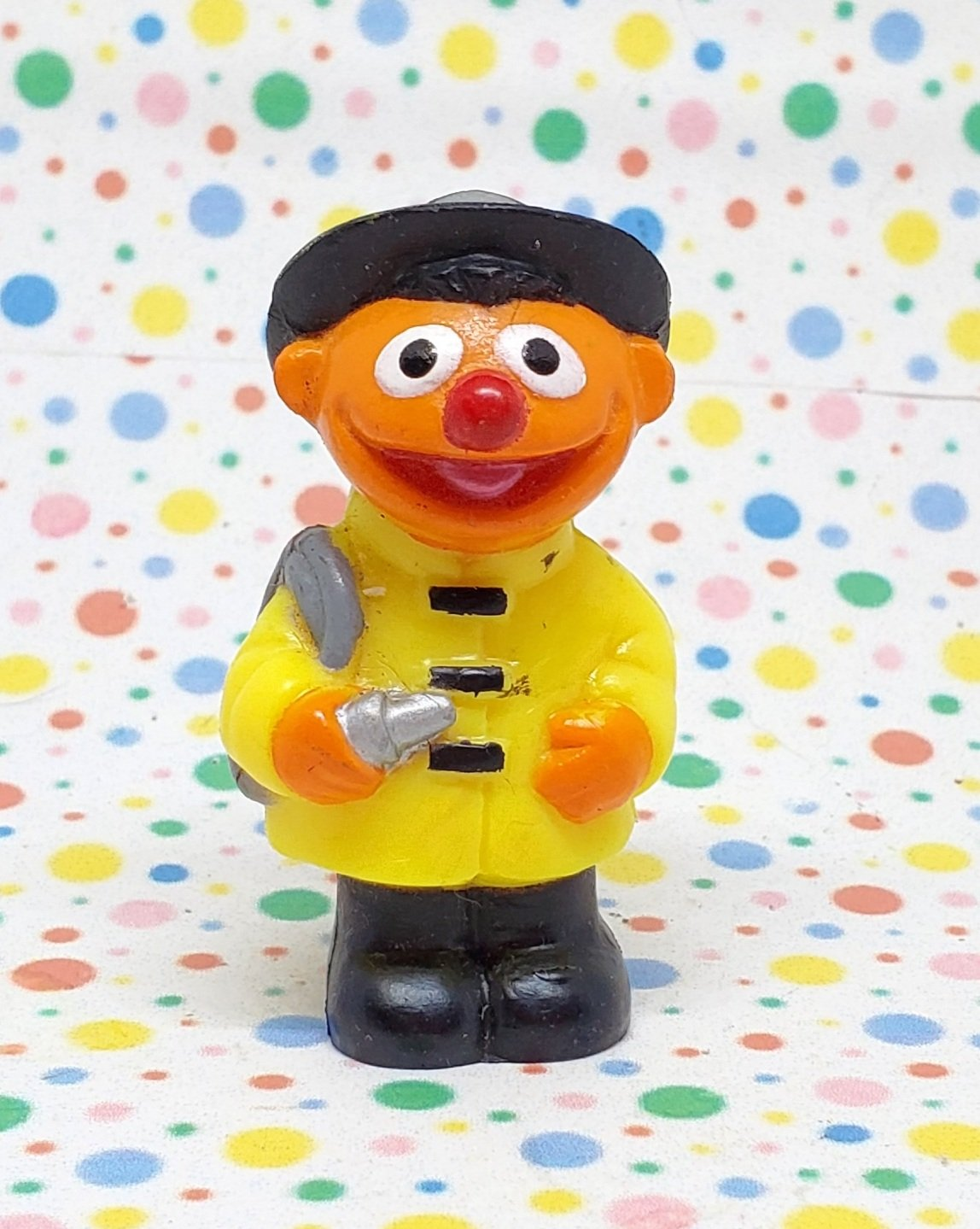 Vintage Sesame Street Ernie Firefighter Figure