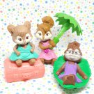 McDonald's Chipwrecked Alvin and the Chipmunks Chipettes Happy Meal Toy Lot
