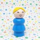 Vintage Fisher Price Little People Blue Blonde Mom