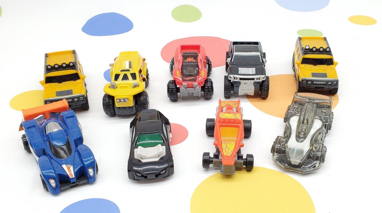 McDonalds Hot Wheels Pull Back Cars and Trucks Lot of 9