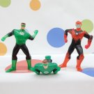 McDonalds Green Lantern Red Razer Figures Lot