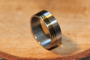 Mens Stainless Steel Ring Size 10.25