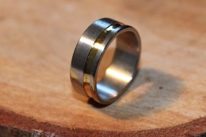 Mens Stainless Steel Ring Size 9