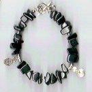 Black Agate Spiral Bracelet