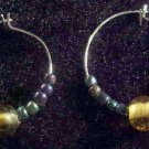 Golden Rainbow Hoop Earrings