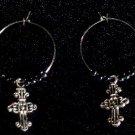 Hematite Cross Earrings