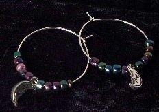 Rainbow Moon Hoop Earrings