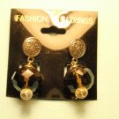 smoky brown/silver earrings