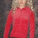 Victoria's Secret $40 Coral Velour Plush & Lush Hoodie Jacket Small 226903