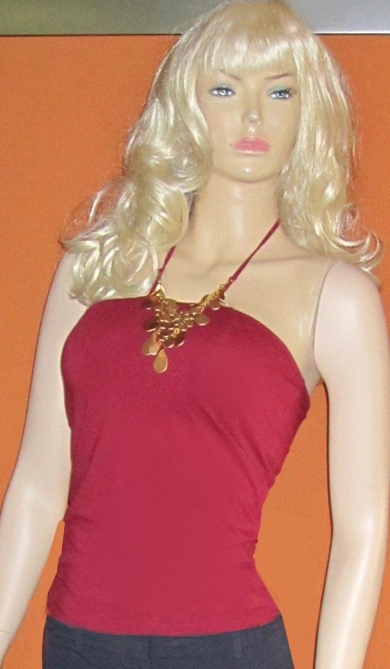 Victoria�s Secret Burgundy Red Necklace Bratop Halter Top Size XS  187612