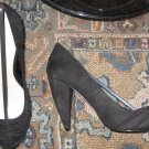Victoria's Secret $75 Suede Black Rouched Pumps 7.5  243432