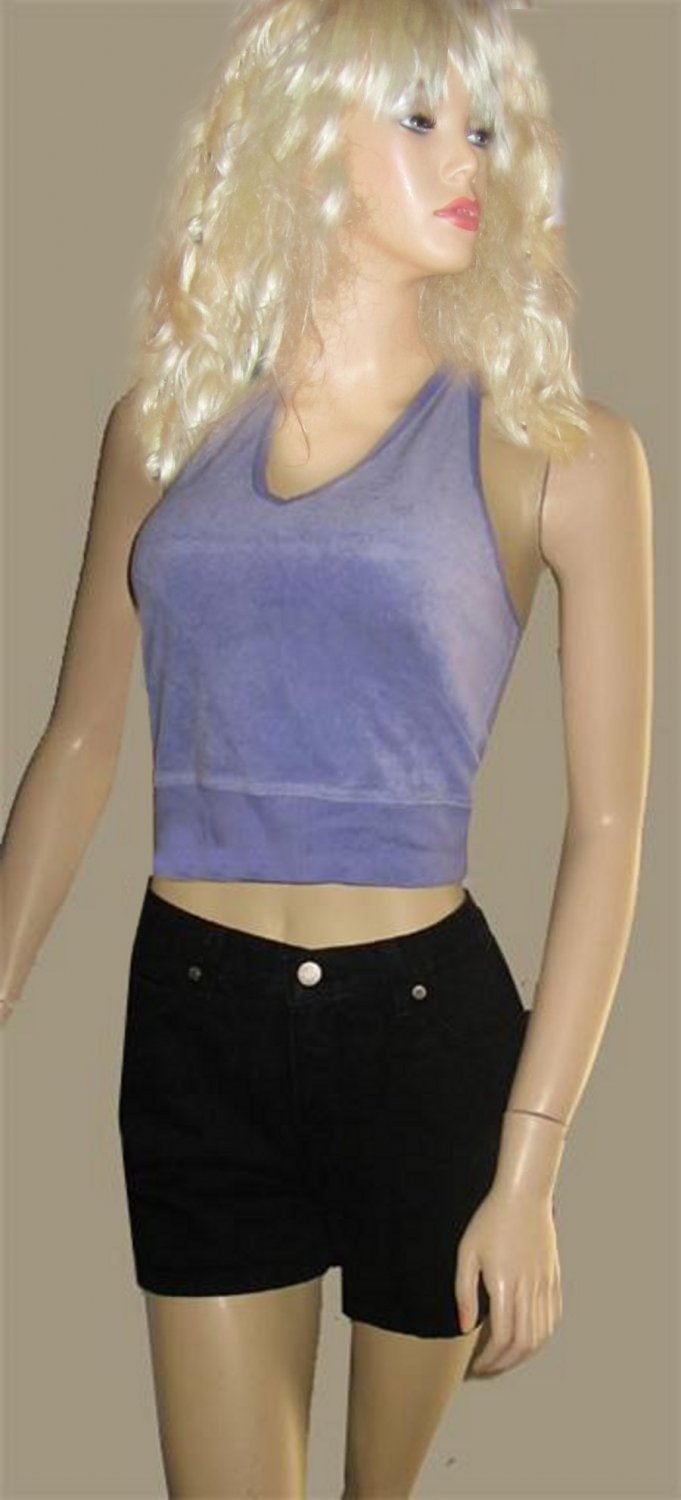 New Victoria's Secret $29 Purple Terry Halter Top Small  162434