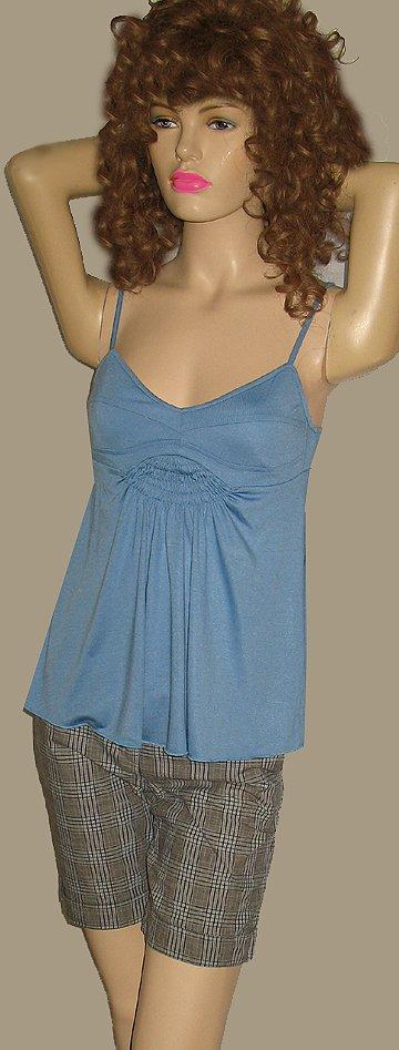 Victoria�s Secret $48 Blue Babydoll Top Small  193500