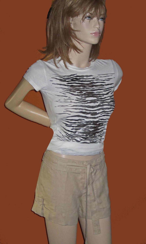 Victoria�s Secret Beige Linen Shorts Size 8  210791