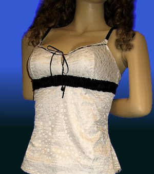 Victoria�s Secret $198 Nina Pinta Pleasure State White Tank Top MEDIUM  194888