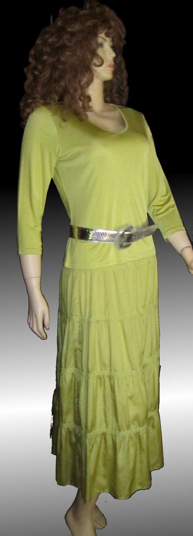 NWT Neiman Marcus GO $298 Sage Silk Suit Medium 506502