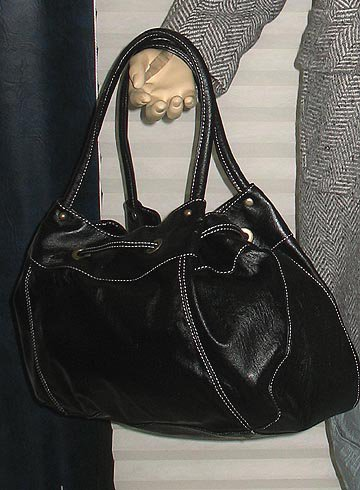 NIB Victoria�s Secret Colin+Colette Black pull Thru Satchel Handbag Purse  223880