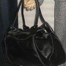 NIB Victoria's Secret Colin+Colette Black pull Thru Satchel Handbag Purse  223880