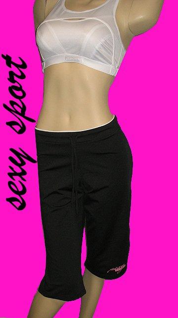 Victoria�s Secret Black Sexy Sport Logo Yoga Pants Small  198011