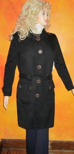 Victoria's Secret $159 Button Back Textured Black Wool Coat 14 Petite  246347