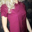 Victoria's Secret $38 Purple Ruched Shoulder Short Sleeve Shirt XS  243684