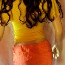 Victoria's Secret $40 London Jean Orange Distress Cargo Skirt 6 250815