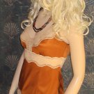 Victoria's Secret Bronze Silk Lace Trimmed Cami Tank Top Size Small  229092