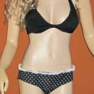 Victoria's Secret $78 Padded Black & White Polka Dot Bikini Large 252381 248246