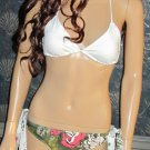 NWT Victoria's Secret $99 Lucky Safari White Floral Camo Bikini Medium  263898