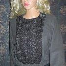 Victoria's Secret $228 Lace Bib Snap Front Wool Blend Blazer Jacket Size 2 243537