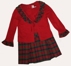 New Jenny & Me $49 Girls Red Dress 3 Toddler 310261