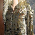 NWT Chico's $99 Silk & Velvet Shirt or Jacket Small XS  759729