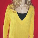 Lane Bryant $80 Yellow Cableknit Tunic Sweater 22 24 918800