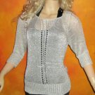 Victoria's Secret $70 Silver Metallic Coverup or Pullover Sweater XS Small  281383