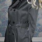 Victoria's Secret $158 Black Belted Trench Coat Medium  261304