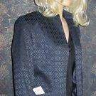 Jones NY Signature $150 Textured Navy Blue Blazer Jacket 8  349854