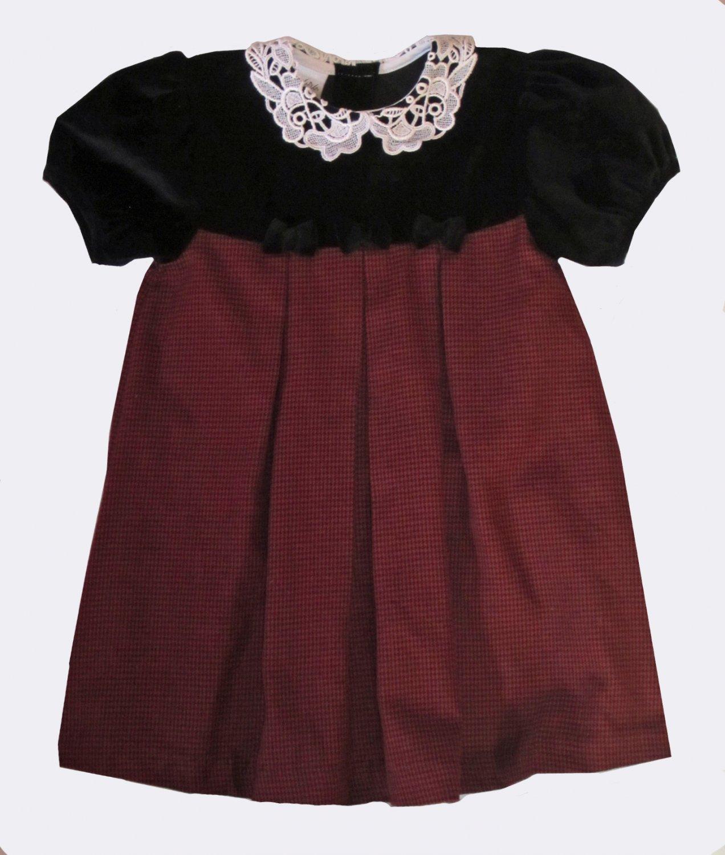 Samara $49 Girls Holiday Red & Black Party Dress 4T 53606d