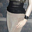 Victoria's Secret Black Sleeveless Sequin Mesh Black Top Size Small 273856