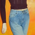 Lauren Jeans Co $120 Premium Blue Denim Jeans 8  712435