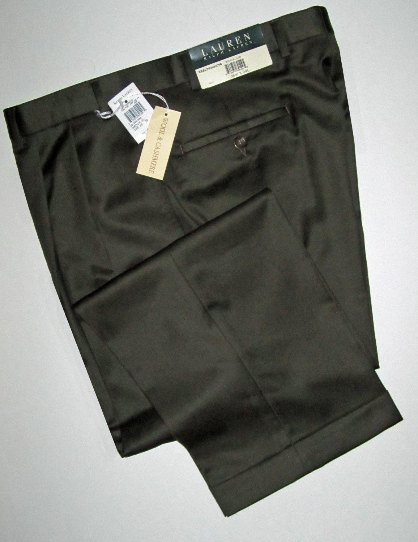 Ralph Lauren $125 Medium Olive Wool Cashmere Men's Pants 36 29 89129
