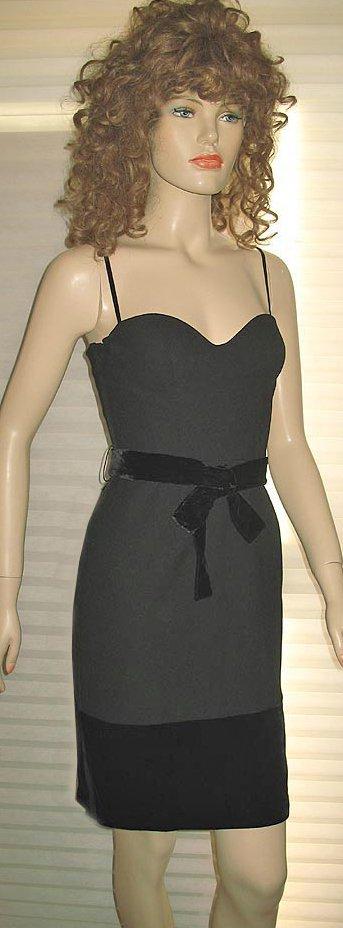 Victoria�s Secret $128 Black Bratop Evening Cocktail Dress 4  204581