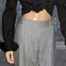 Talbots $120 Wool Grey Herringbone Trouser Pants 6 Petite  709899