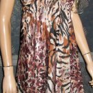 Victoria's Secret $80 Animal Print Handkerchief Dress Medium Large  270838