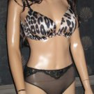 Victoria's Secret $68 Animal Print Gel-Curve 38C Bra Set  196512